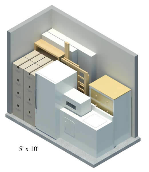 ... 5u0027 x 10u0027 storage unit ex&le  sc 1 st  Lock n Roll Storage & Lock n Roll Storage · Storage Building Size Guide
